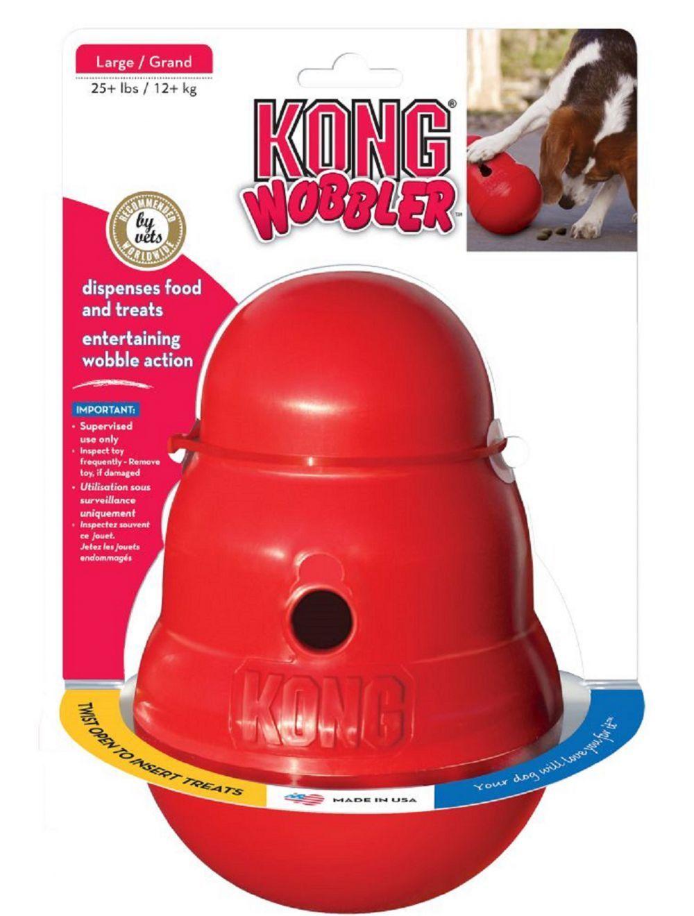 Juguete Kong perro caucho wobbler - Ciudaddemascotas.com