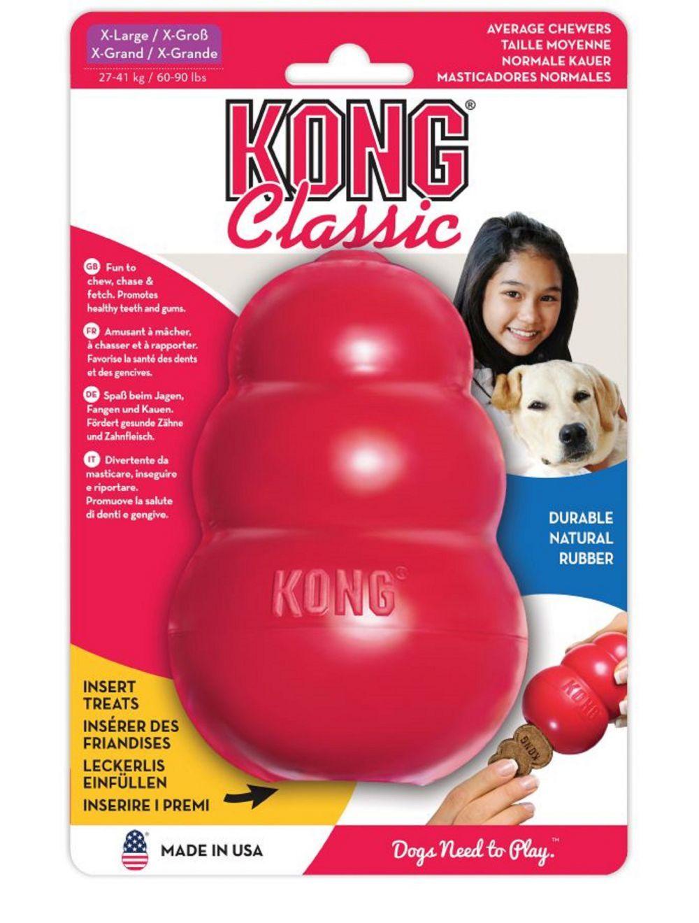 Juguete Kong caucho classic portapasabocas - Ciudaddemascotas.com