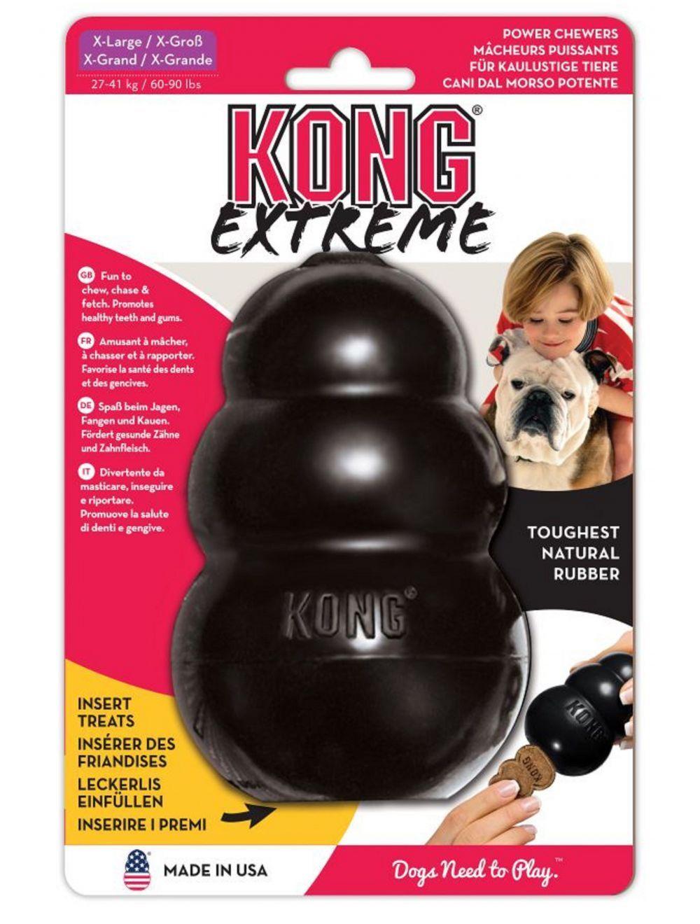 Jugete Kong caucho extreme portapasabocas - Ciudaddemascotas.com
