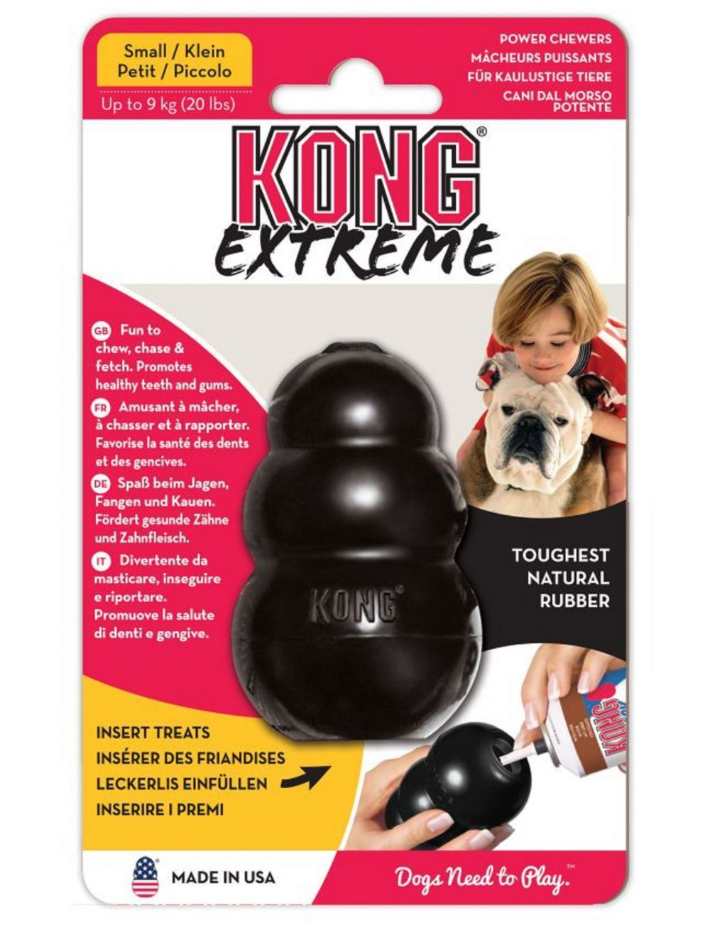 Juguete Kong perro caucho portapasabocas-Ciudaddemascotas.com