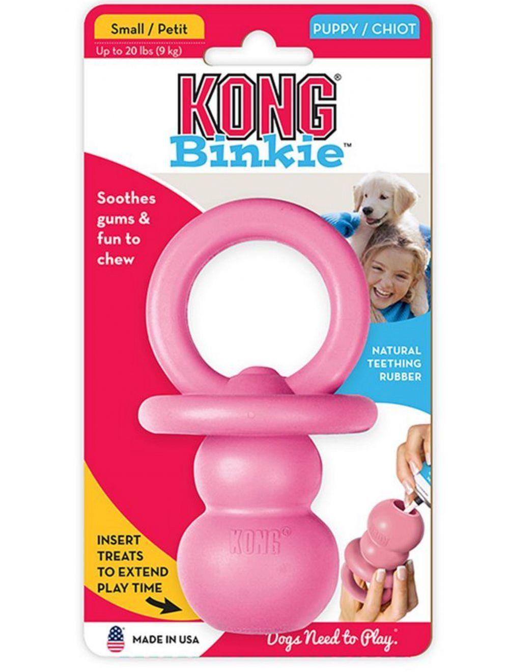 Kong perro caucho puppy binkie small