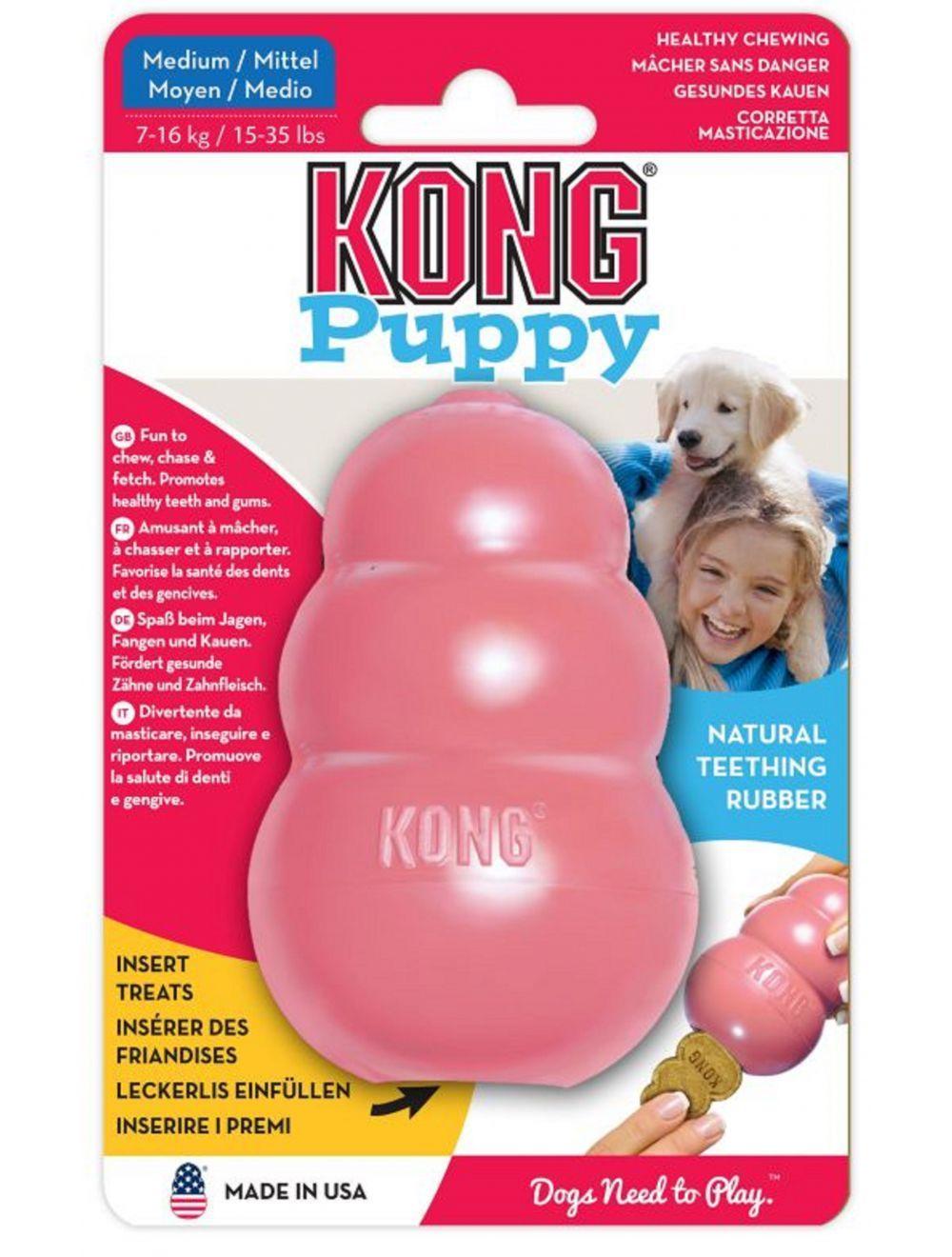 Juguete Kong caucho puppy portapasabocas - Ciudaddemascotas.com