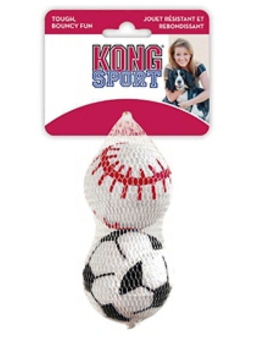 Kong perro sports balls pelota large x2