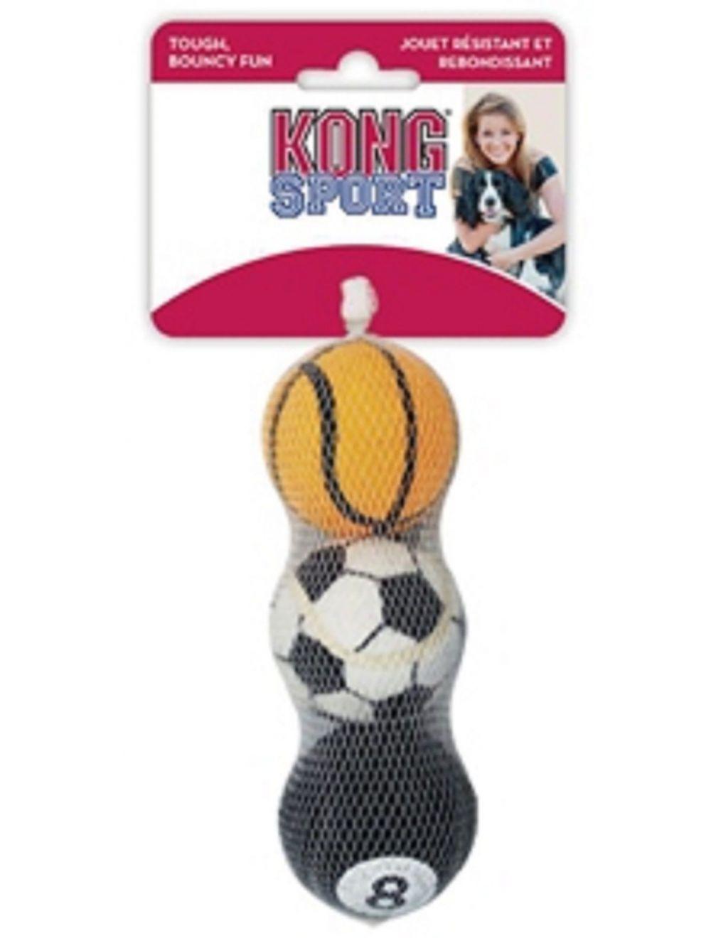Kong perro sports balls pelota medium x3