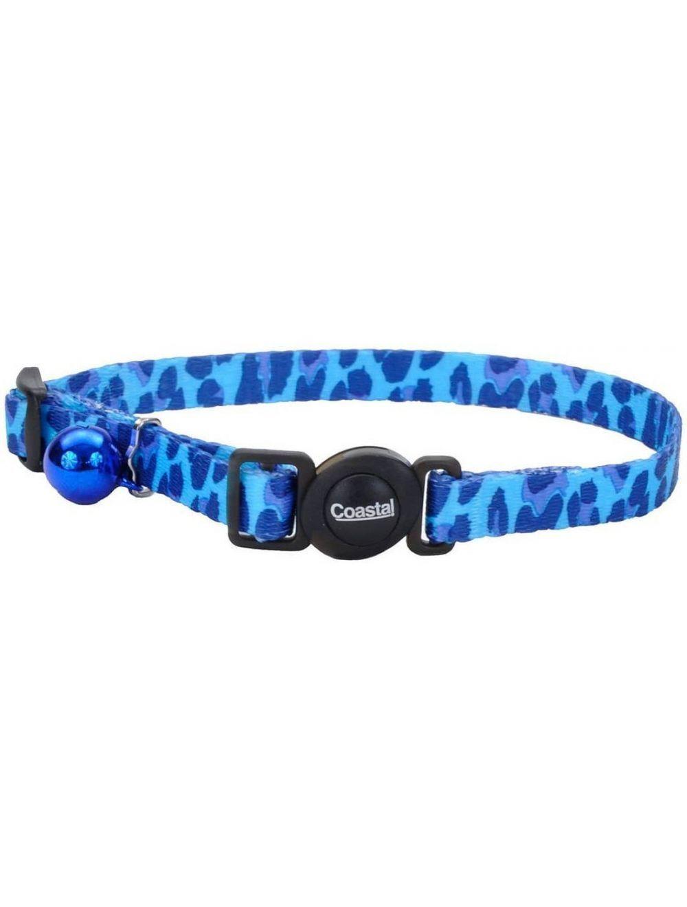 coastal collar gato fashion leopardo azul