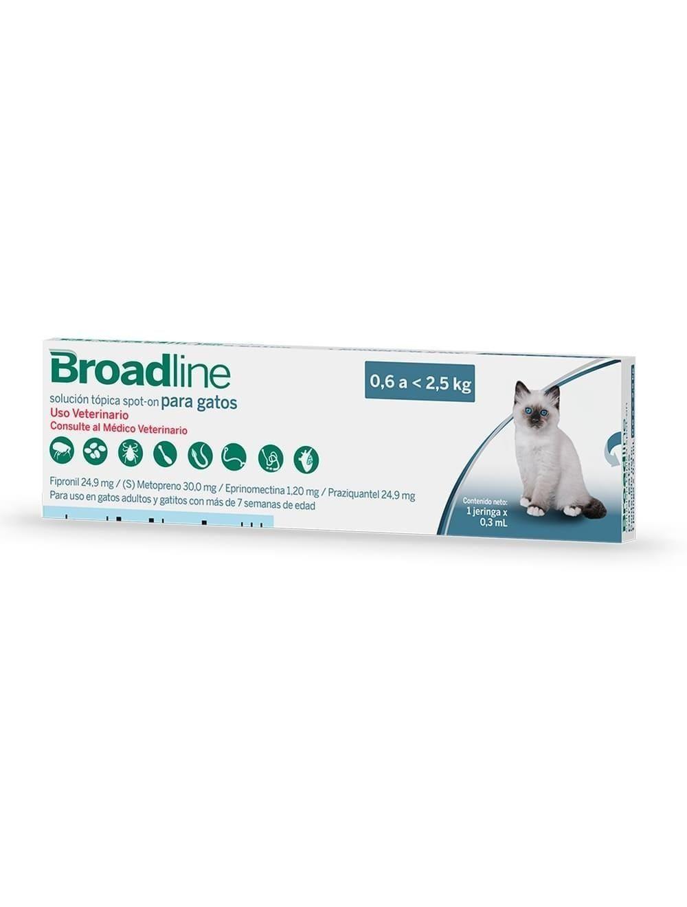 Desparasitante Broadline Tópico 0.6 a 2.5 - Ciudaddemascotas.com