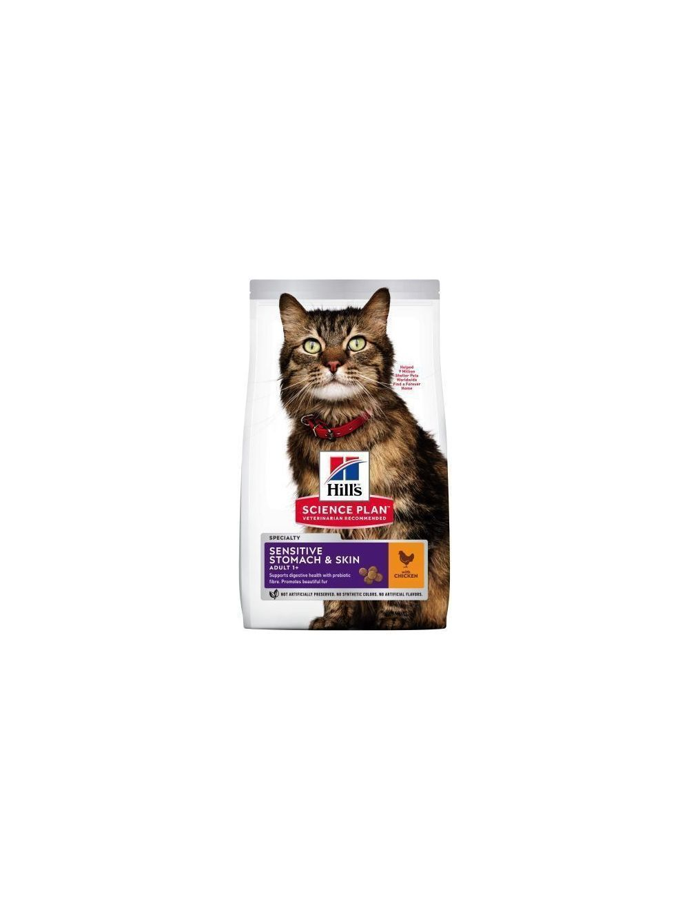 Hills Gato Adulto Sensitive Skin and Stomach 3,2 Kg - DESCONTINUADO