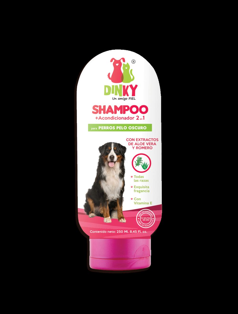 Dinky shampoo para perros pelaje oscuro - Ciudaddemascotas.com
