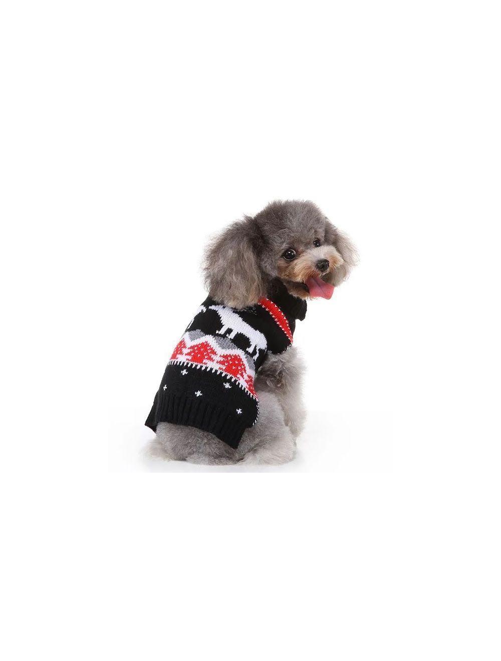 Suéter, Buzo, Saco Navideño para Perros o Gatos, Valentín For Pets Talla S