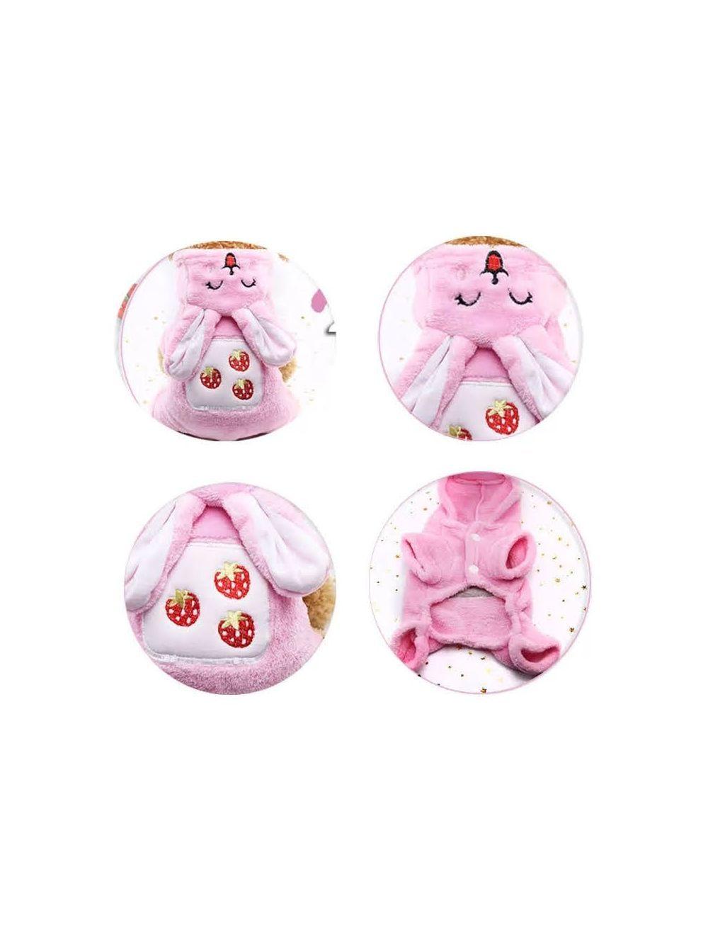 Disfraz conejita para mascotas talla XL  de razas pequeñas