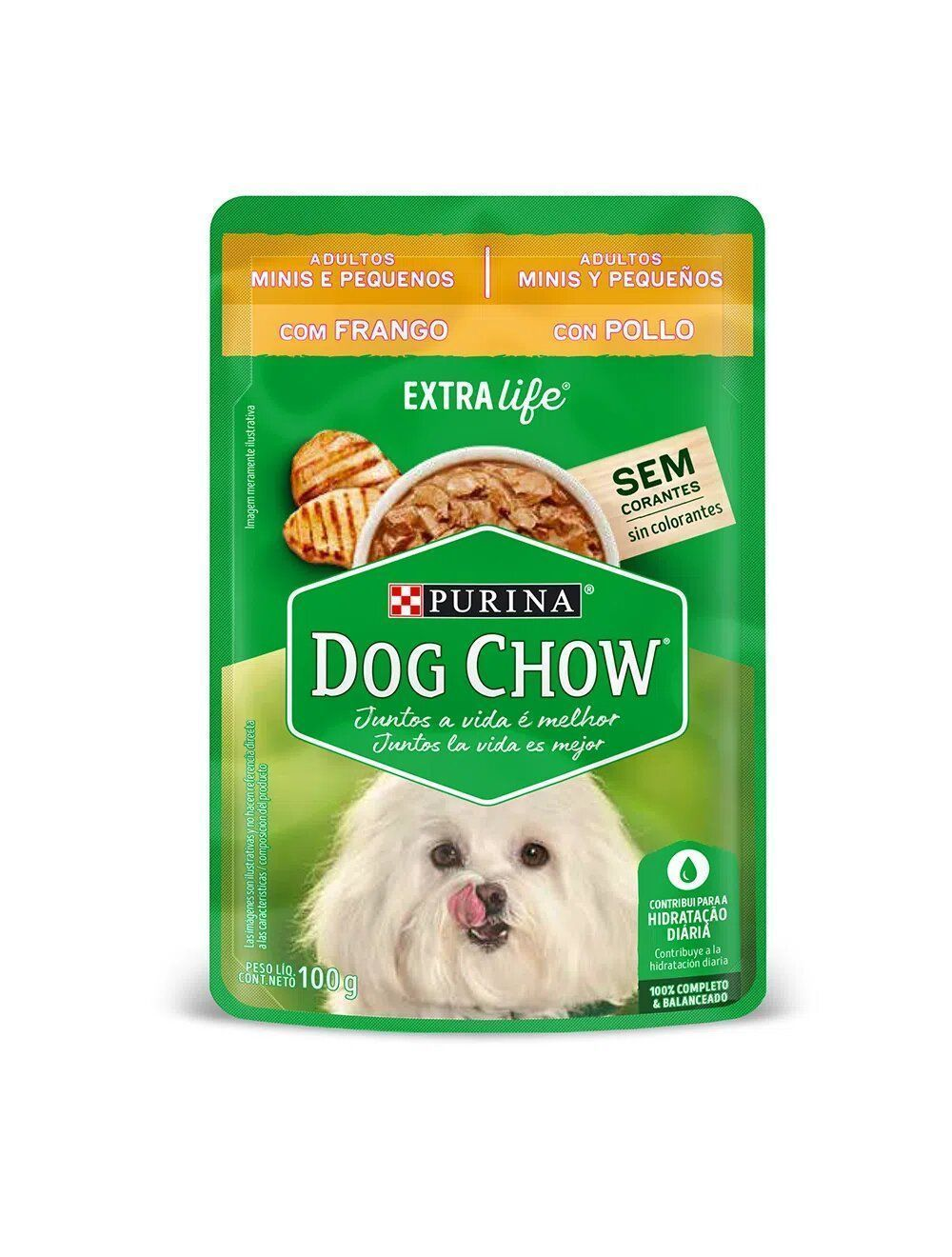 Comida Dog Chow Pouch Minis y Pequeños - ciudaddemascotas.com