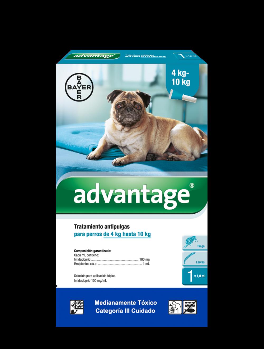 Antipulgas para perro Advantage Pipeta - Ciudaddemascotas.com