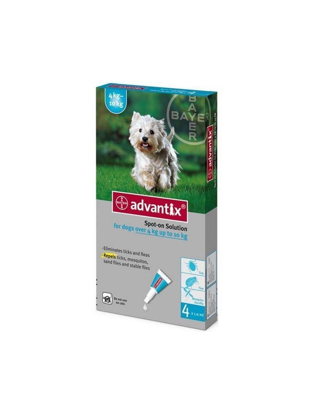 Advantix Pipeta para Perros de más de 4 kg hasta 10 kg - P80