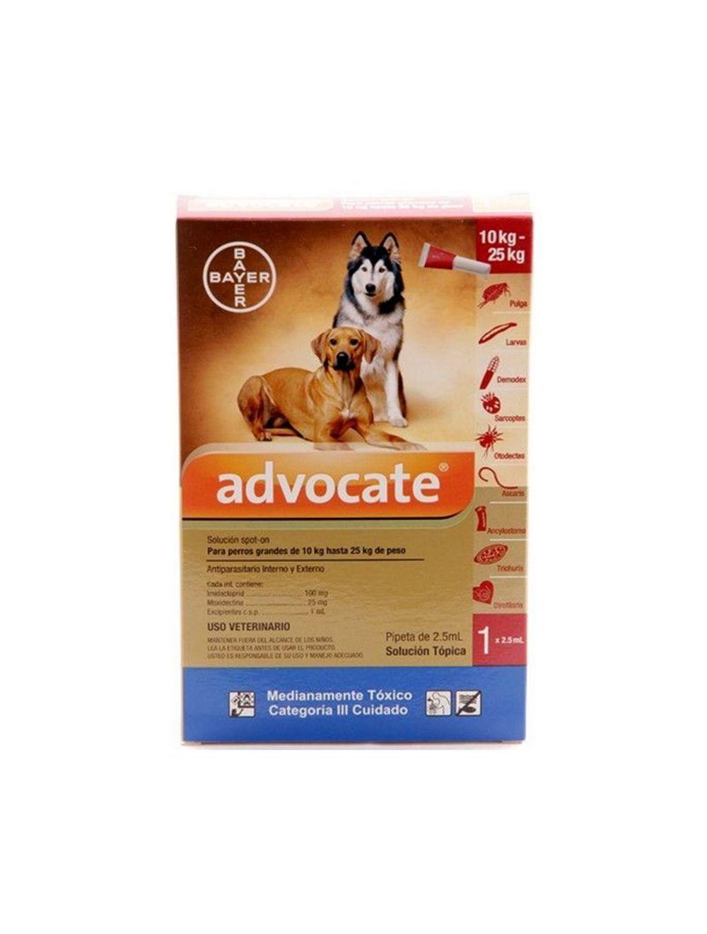 Advocate Pipeta para Perros de más de 10 kg hasta 25 kg