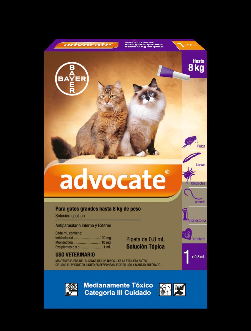 Antiparasitario para gatos Advocate Tripack - Ciudaddemascotas
