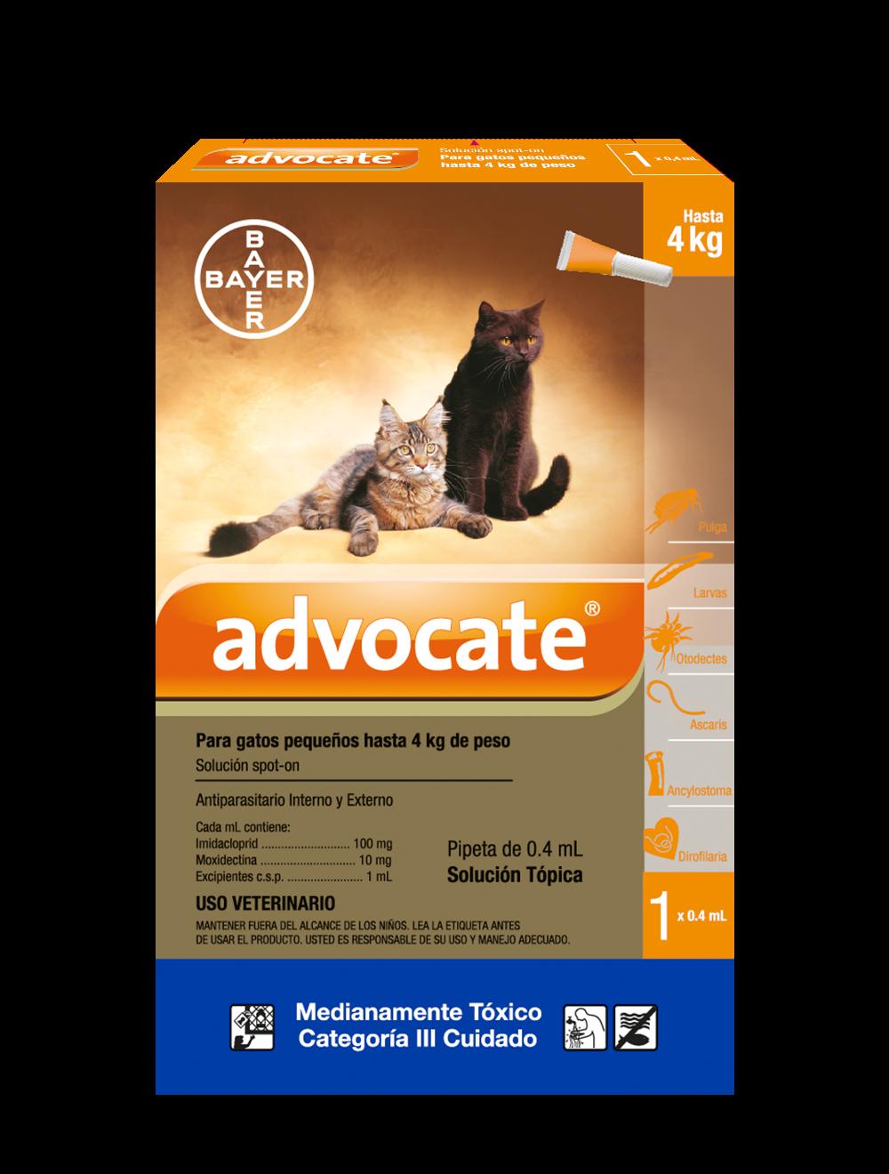 Antipulgas Advocate Pipeta gatos Pequeños - Ciudaddemascotas.com