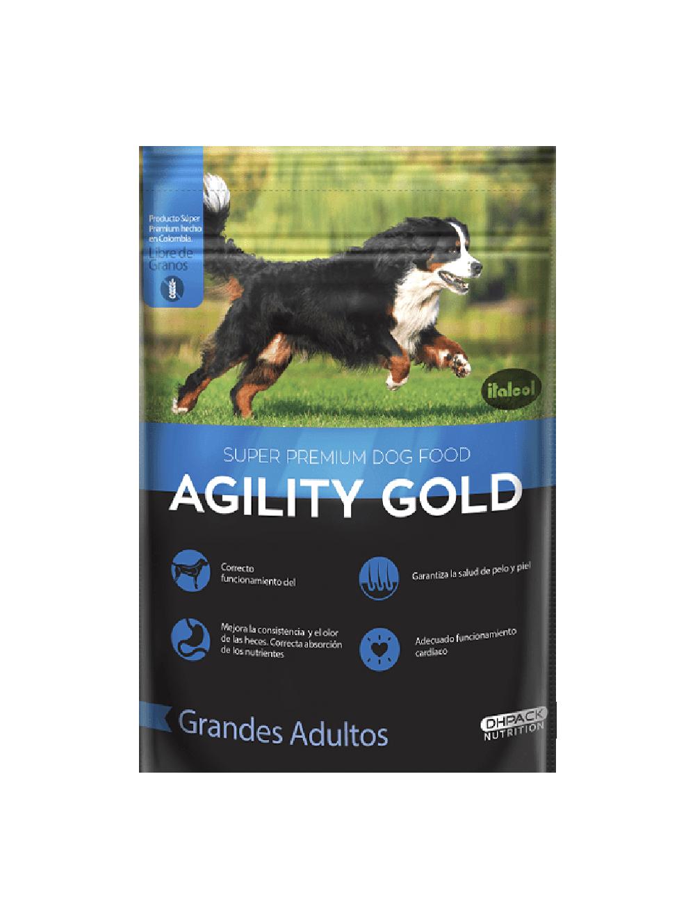 Agility Gold Grandes Adultos 1.5 Kg - Ciudaddemascotas.com