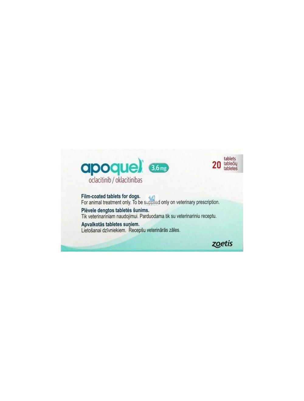 Tratamiento Apoquel  3,6 Mg 20 tab - Ciudaddemascotas.com