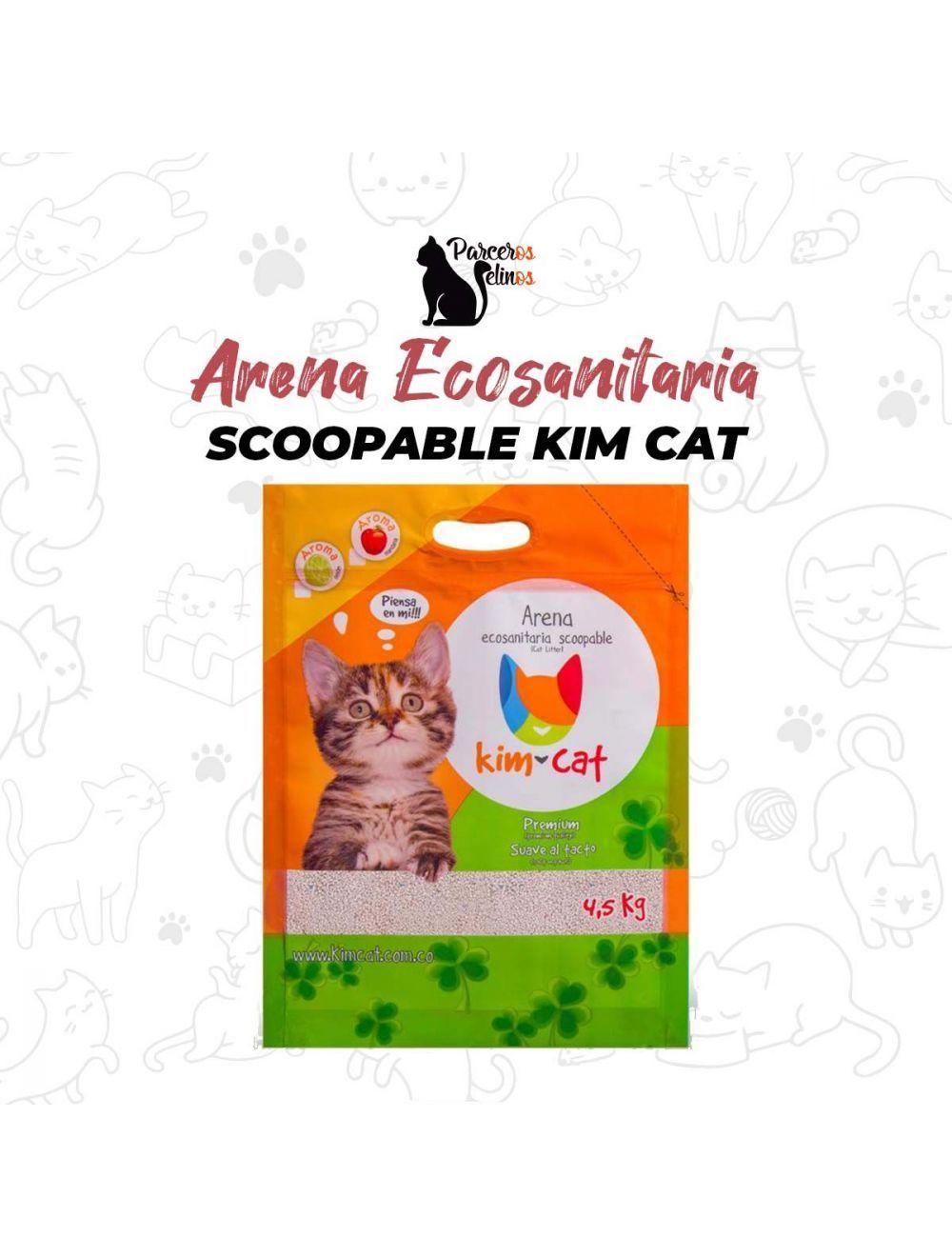 Arena Ecosanitaria Scoopable Kim Cat 10Kg - Ciudaddemascotas.com