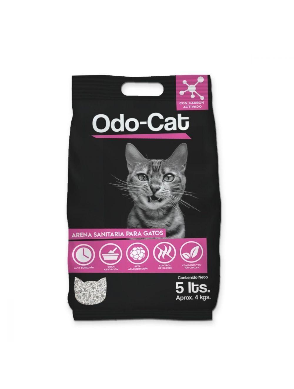 ARENA SANITARIA PARA GATOS ODO CAT 4kg - ciudaddemascotas.com