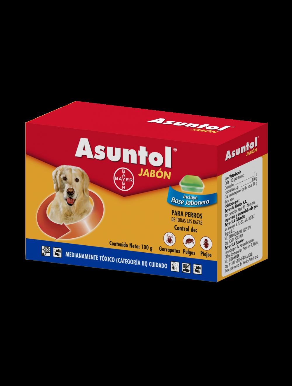 Asuntol Jabón para Perros 100 g - Ciudaddemascotas.com