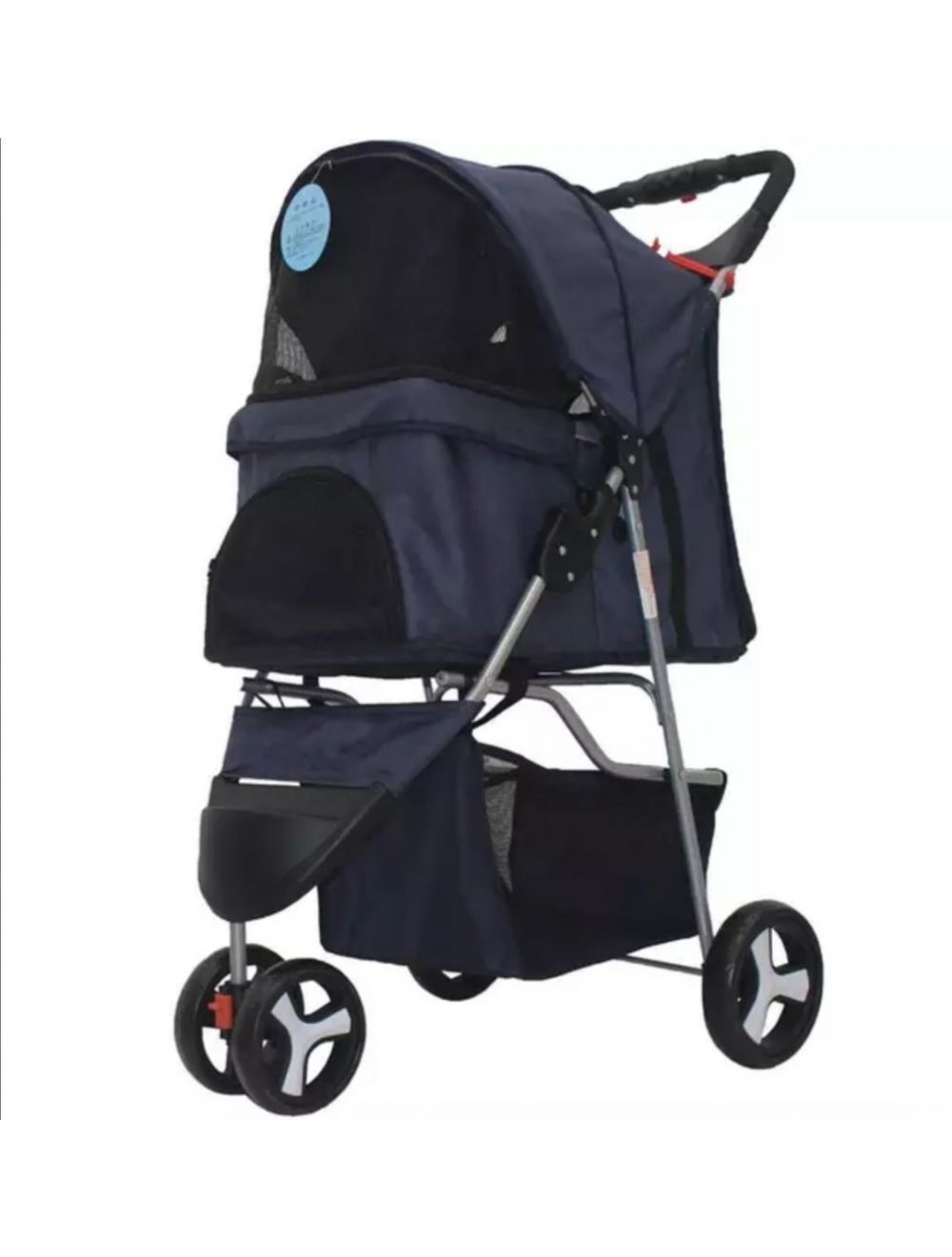 Coche Pet Stroller Mediano Color Negro