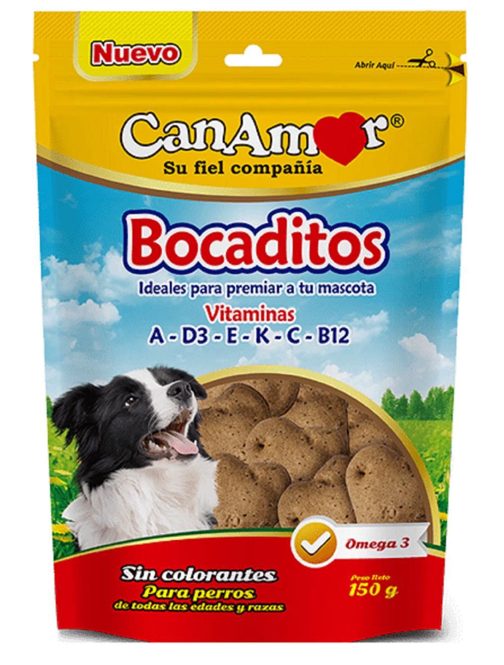 Galletas para perro Canamor Bocaditos - ciudaddemascotas.com