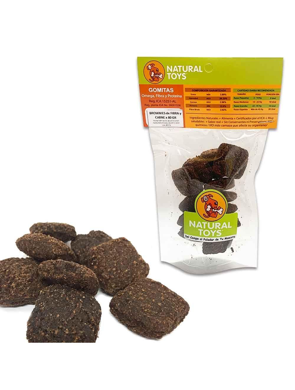 Brownies De Proteína Y Fibra Natural 80 Gr