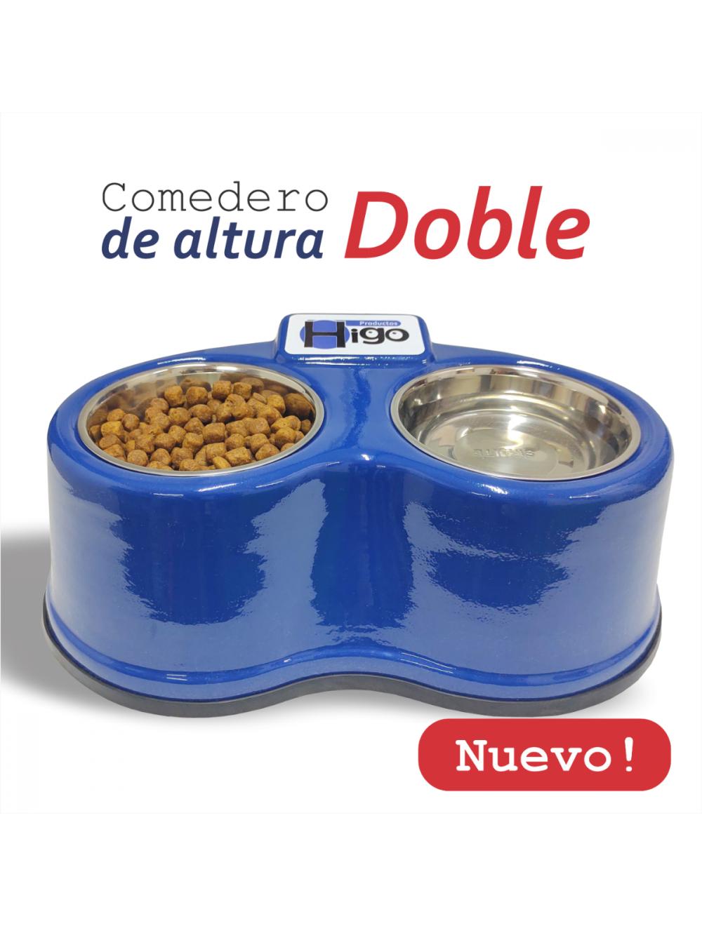 Comedero Alto - Azul  - Ciudaddemascotas.com