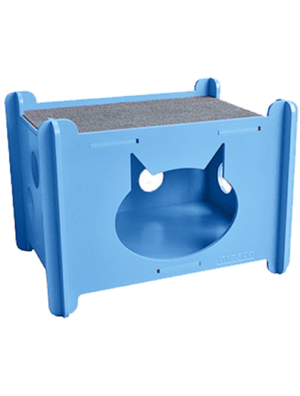 Masco Casa Armable para Gato Azul - Ciudaddemascotas.com