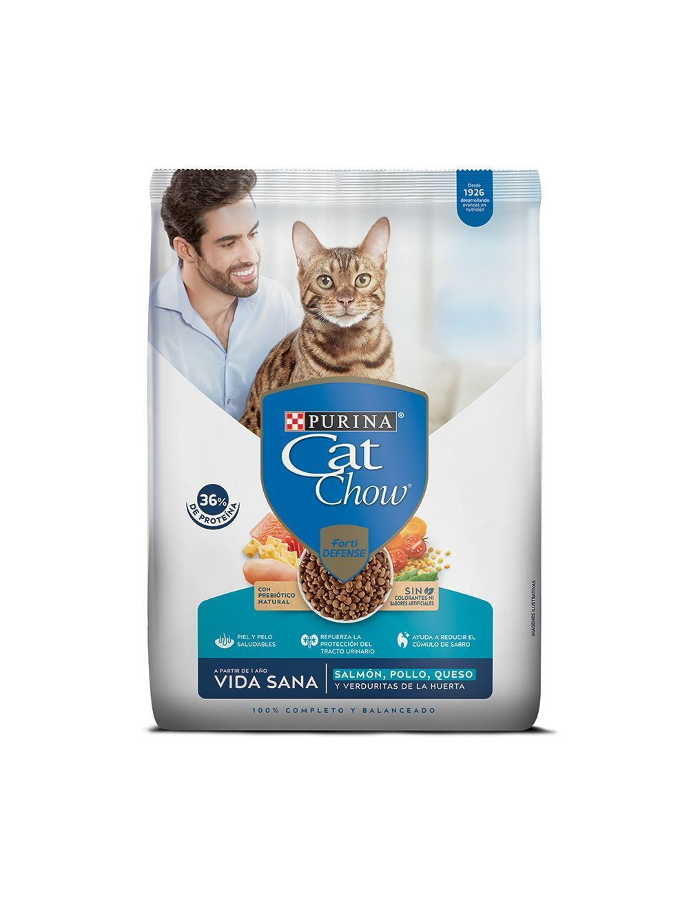 Comida para gatos Cat Chow Vida Sana-ciudaddemascotas.com