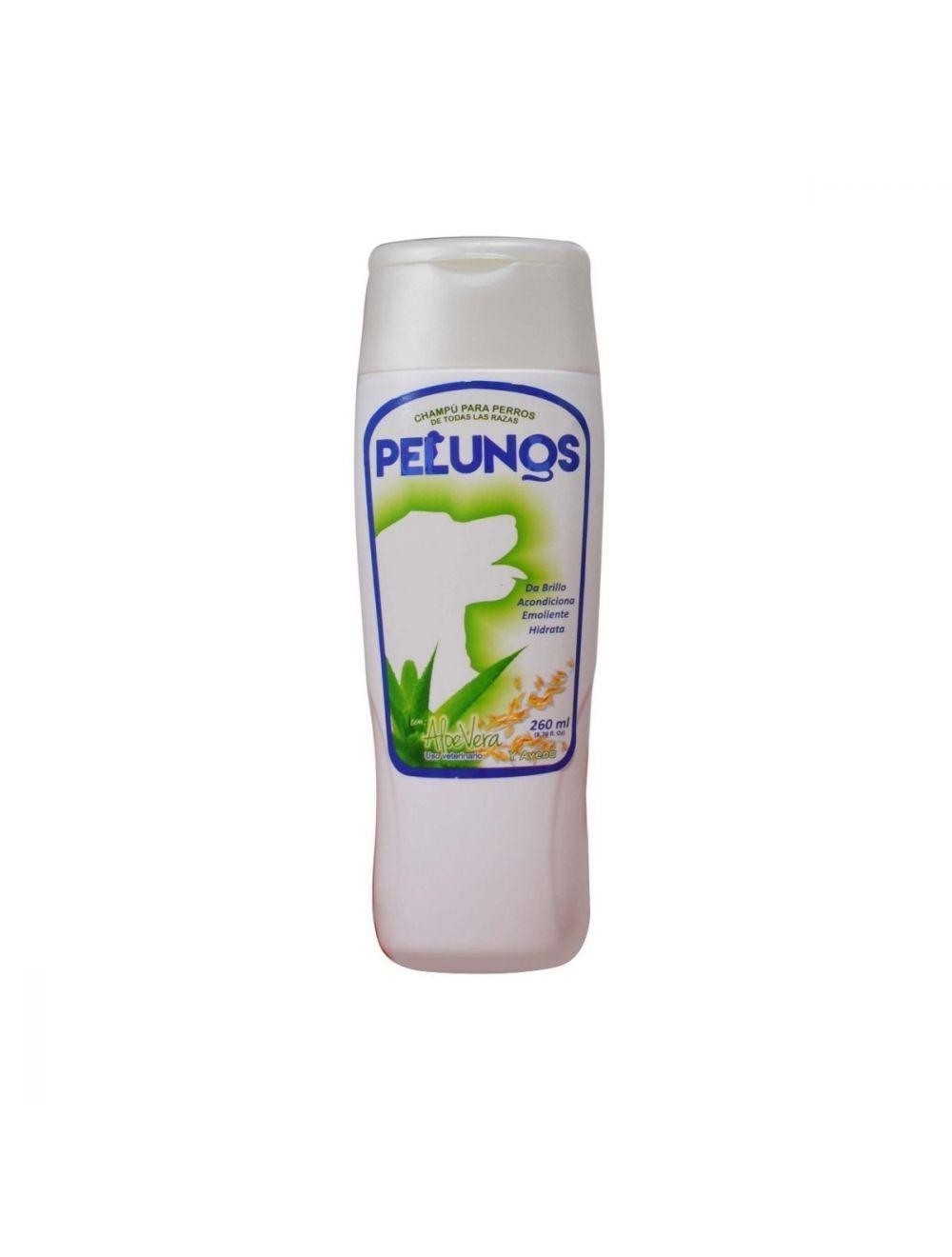 Champú 4 en 1 Pelunos con Aloe vera y Avena 260ml - Ciudaddemascotas.com