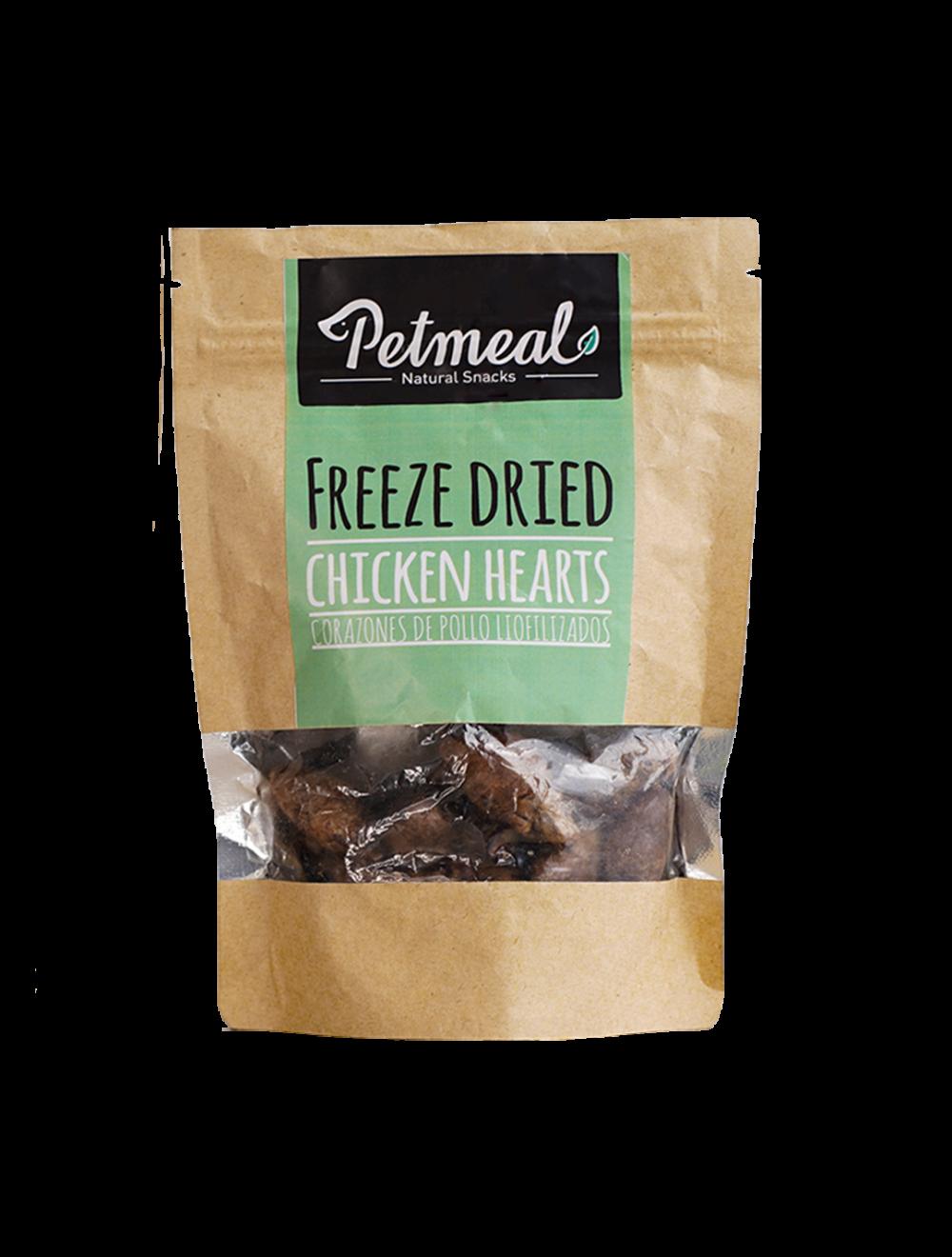 Petmeal Natural Snacks Chicken Hearts - Ciudaddemascotas.com