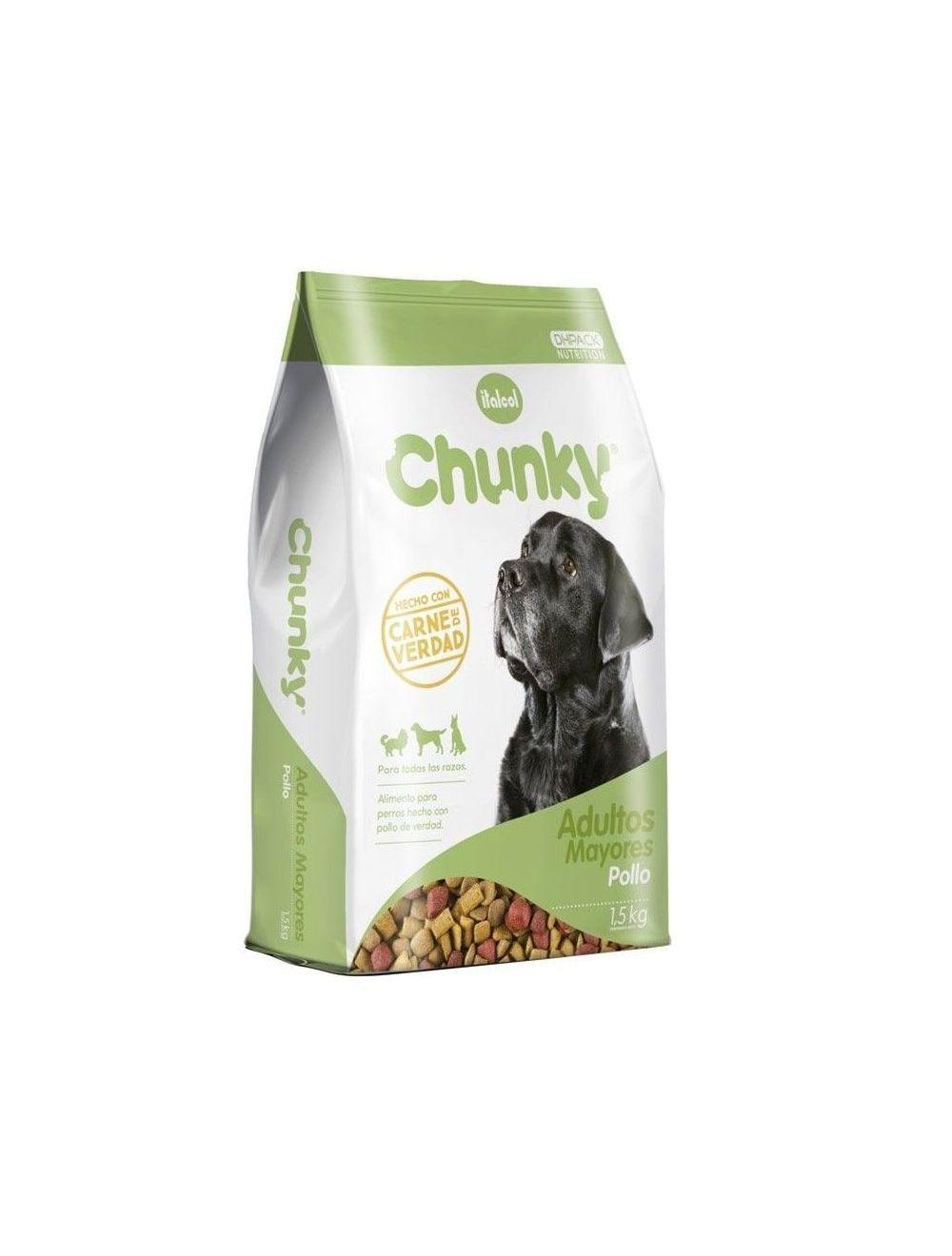 Comida Chunky adultos mayores 12 kilos - Ciudaddemascotas.com