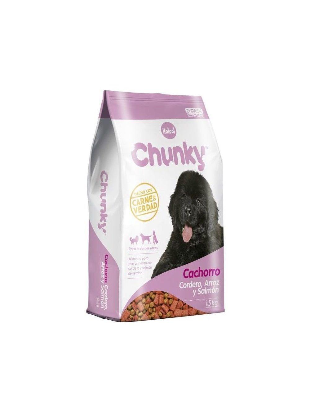 Chunky cachorro cordero arroz y salmón 4 Kg