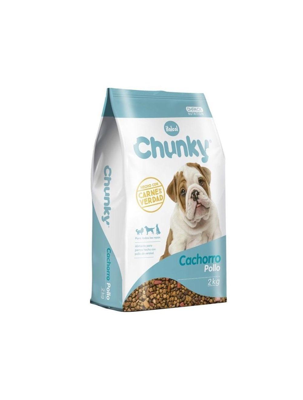 Comida Chunky cachorros de pollo - Ciudaddemascotas.com