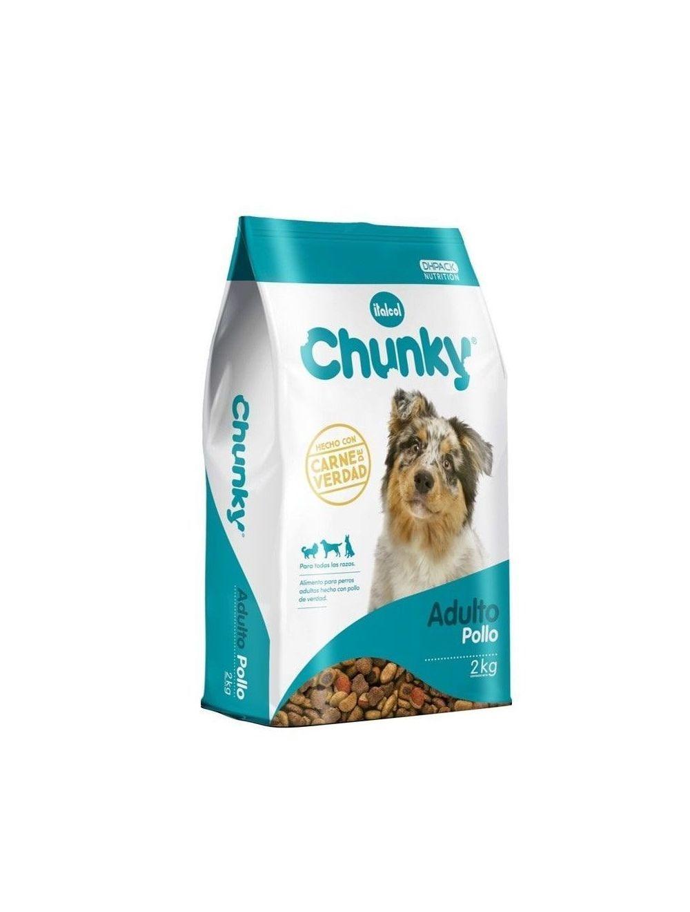 Comida Chunky Adultos Pollo 25 kilos - Ciudaddemascotas.com
