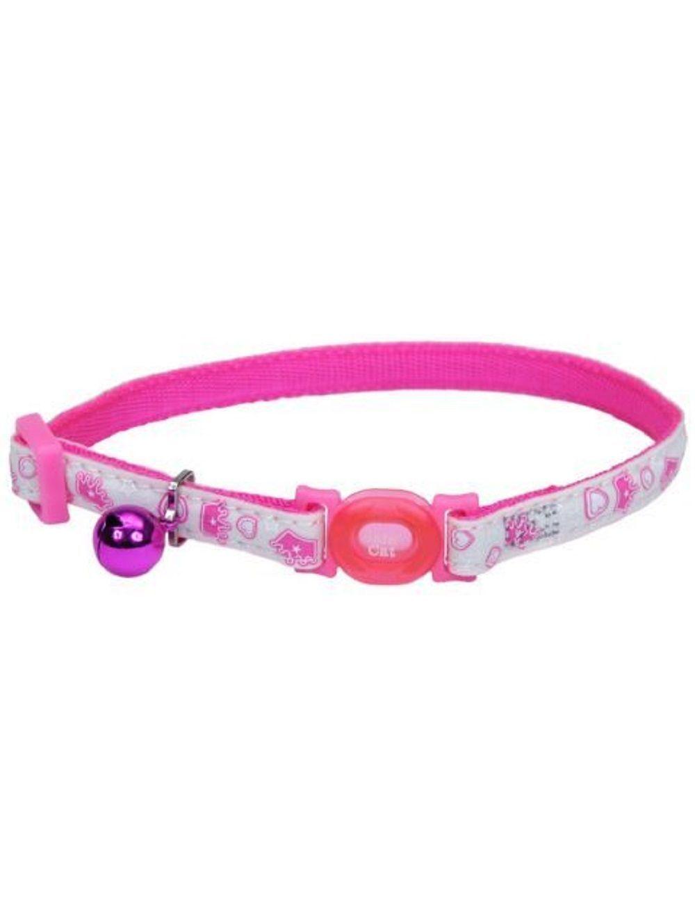 Coastal collar gato glow reflectivo reina rosado - Ciudaddemascotas.com
