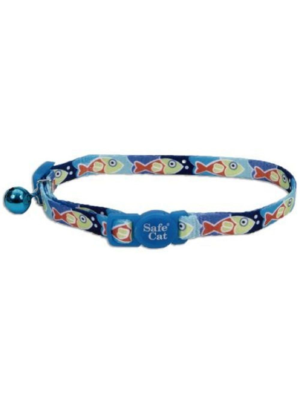 Collar Coastal gato fashion peces azul - Ciudaddemascotas.com