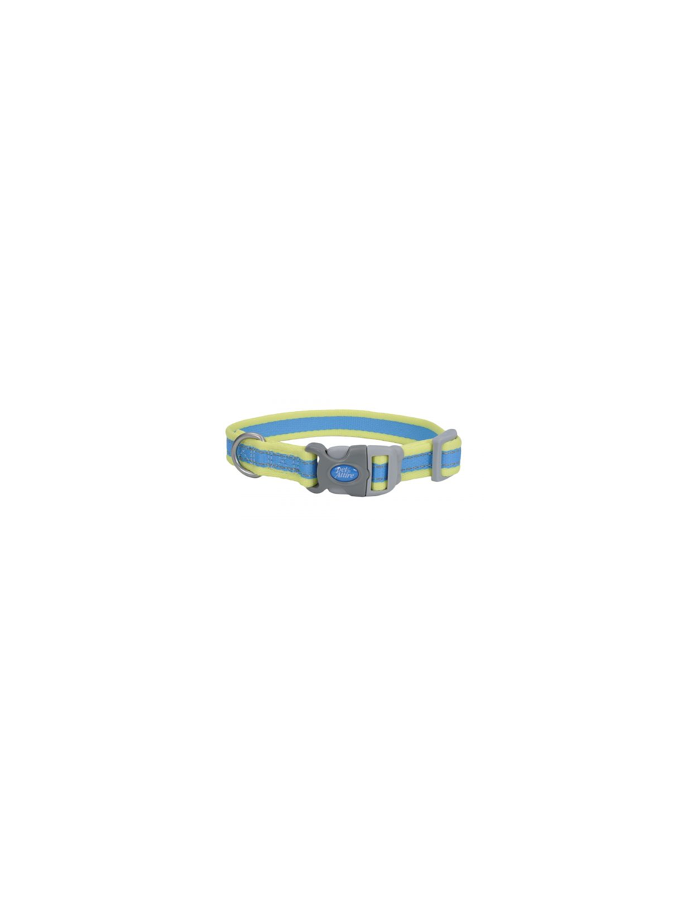 Collar Pro Azul Con Amarillo Neón Medium 3/4 - P80