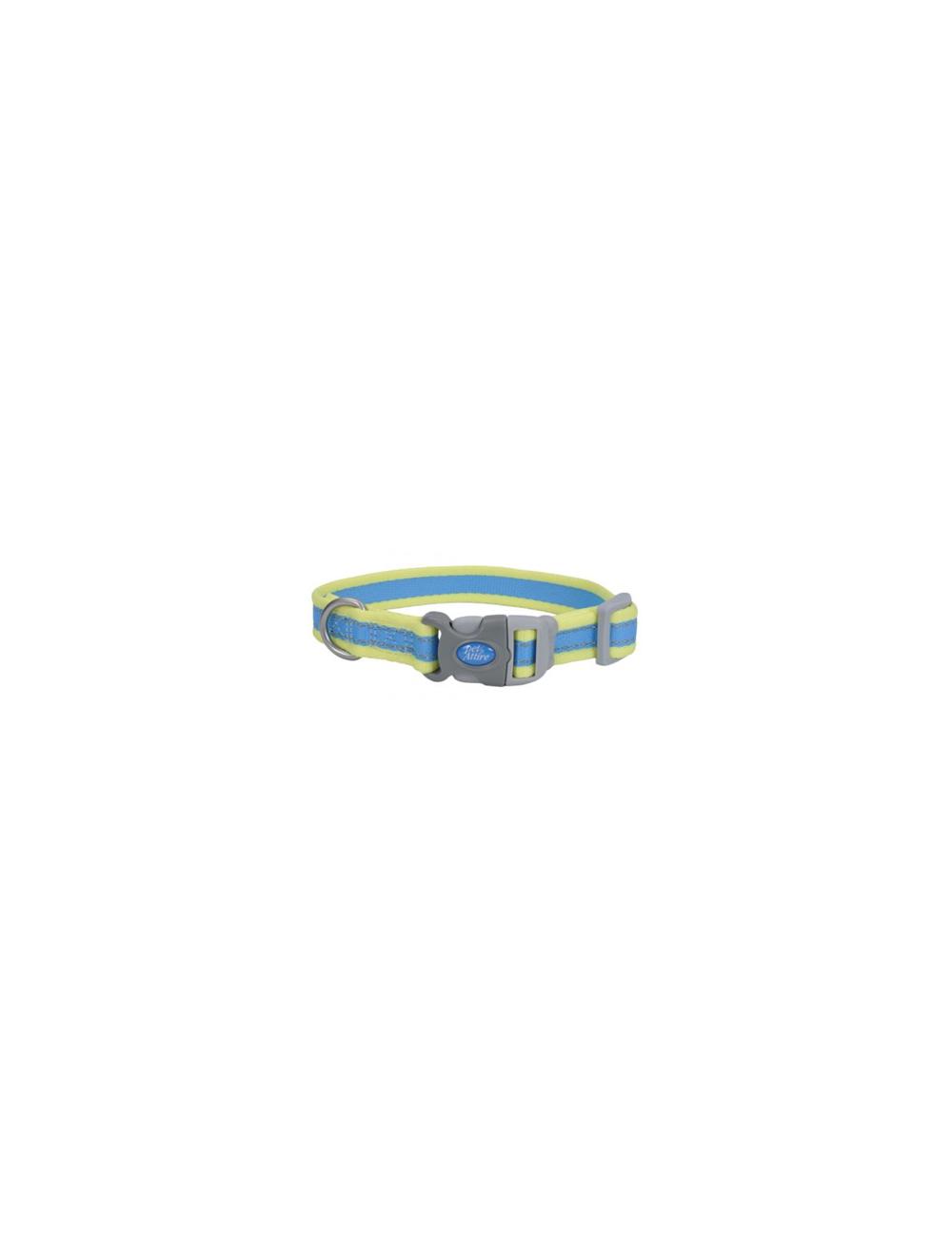 Collar Pro Azul Con Amarillo Neón Small 3/4 - P80