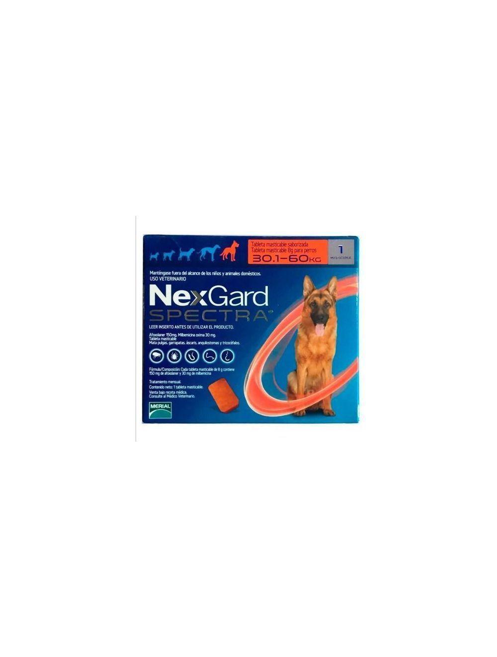 Nexgard Spectra 30.1 - 60 Kg - Ciudaddemascotas.com