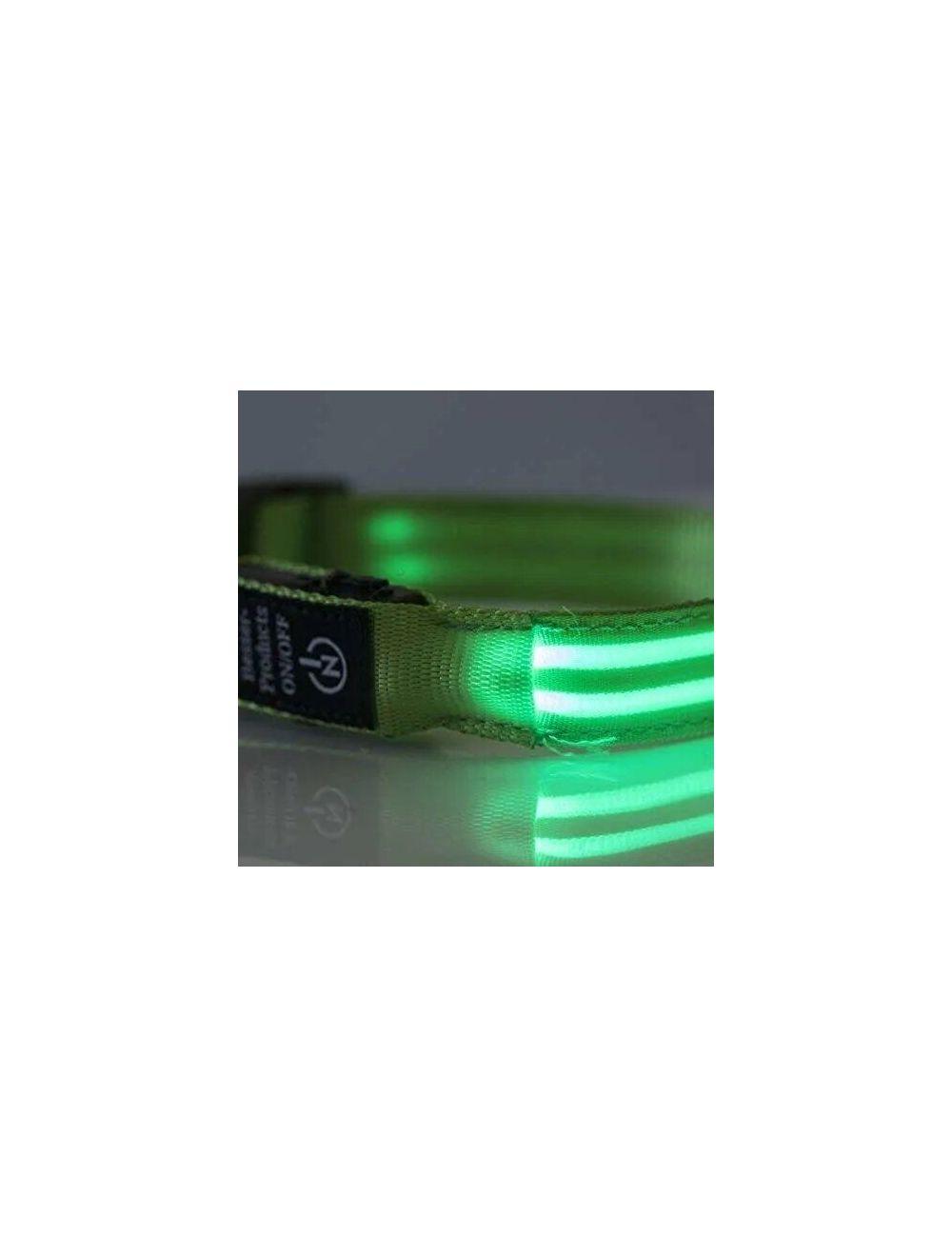 Collar Doble LED Talla L           - Ciudaddemascotas.com