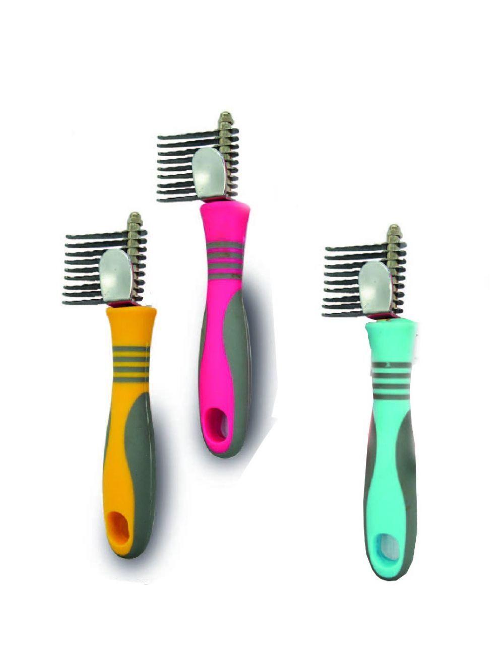 Cepillo desenredante azul
