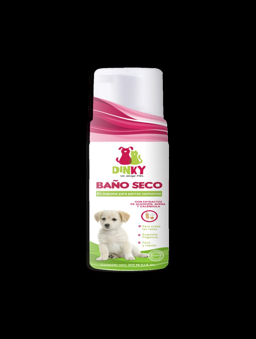 Dinky Baño Seco en Espuma Perros Cachorros x 200 ml