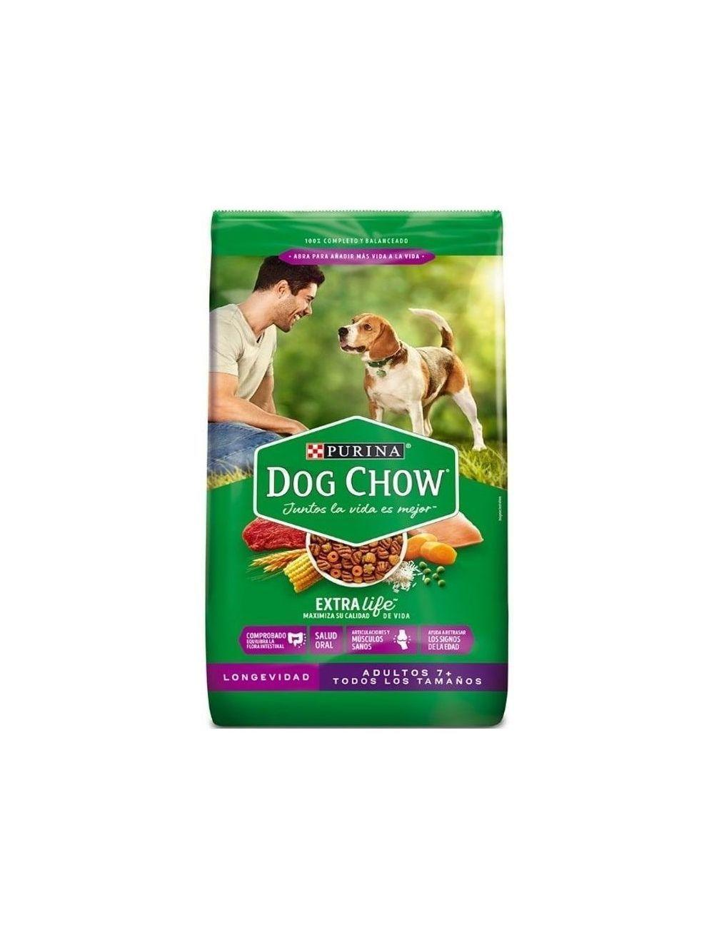 Dog Chow Longevidad Adultos +7 Todos Los Tamaños