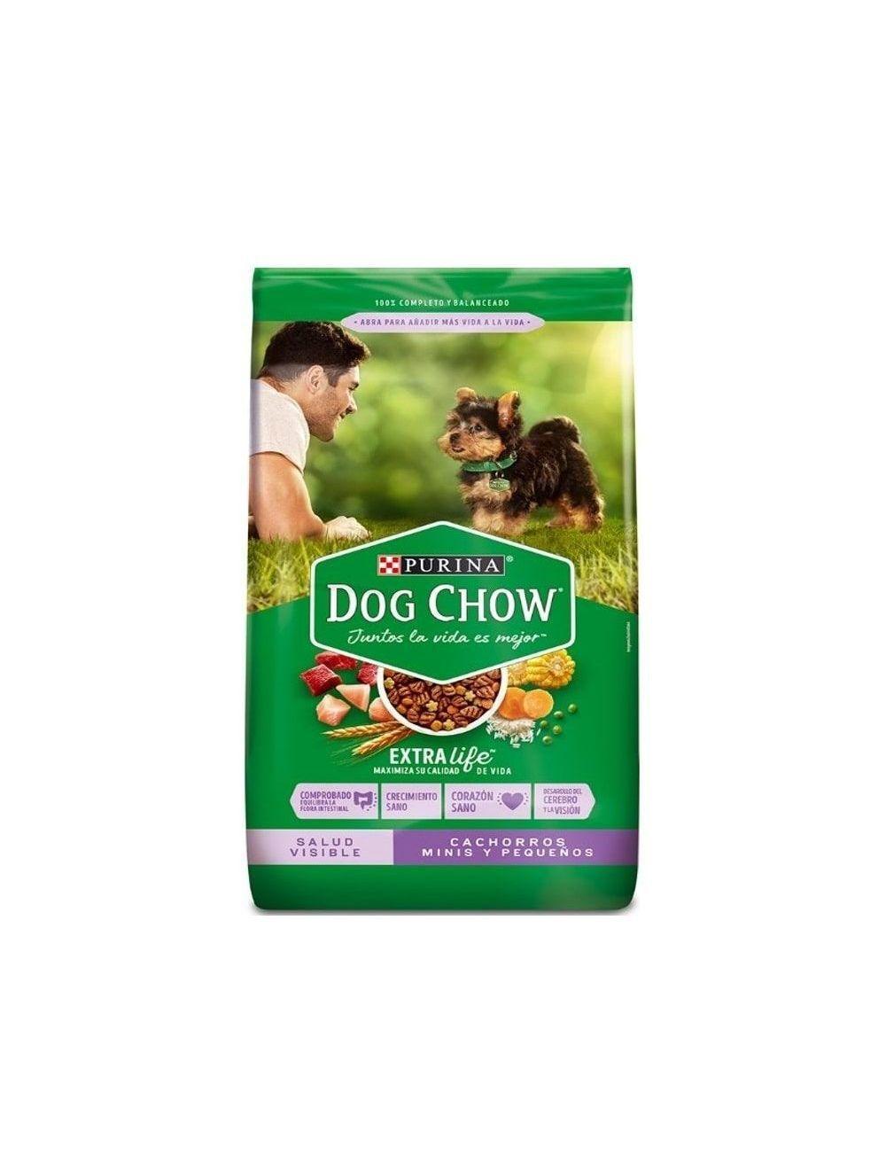 Comida Dog Chow Cachorro Raza Pequeña 4 Kg - Ciudaddemascotas.com