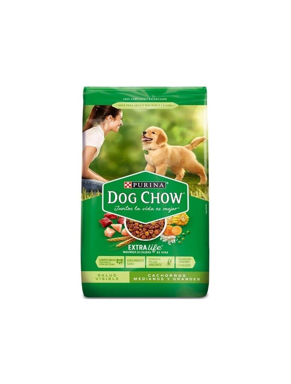 Dog Chow® Salud Visible Cachorros Medianos Y Grandes (8 Kg)