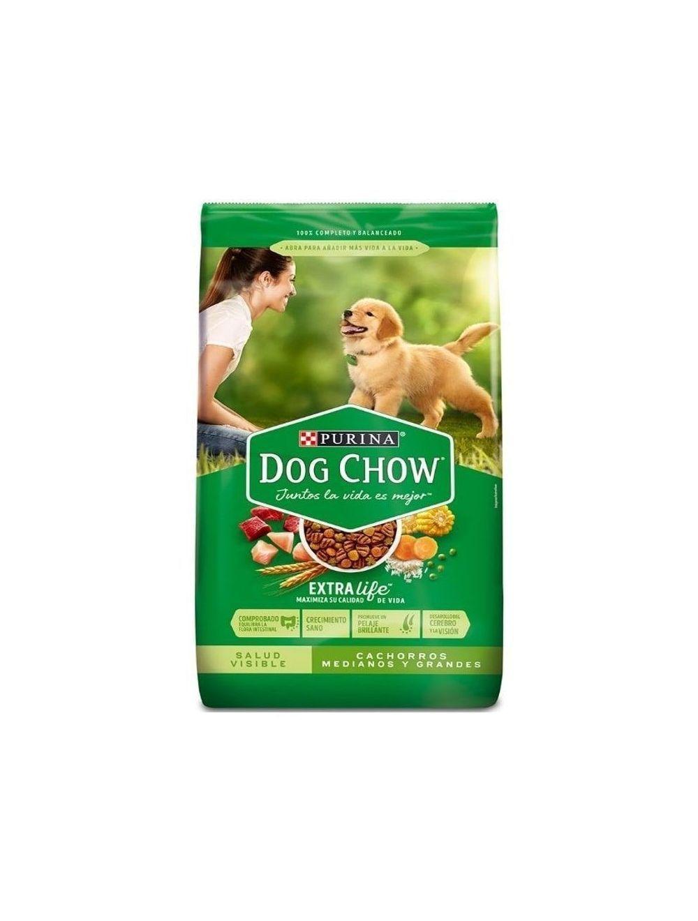 Comida Perros Dog Chow Cachorro 17 Kg - ciudaddemascotas.com
