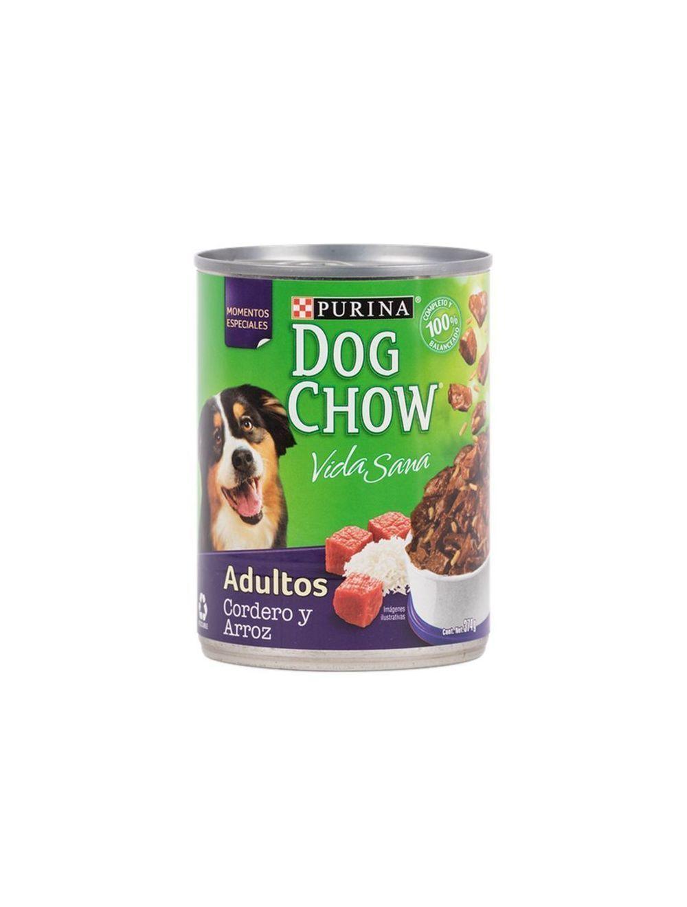 Dog Chow Cordero y Arroz 375g en Lata - P80
